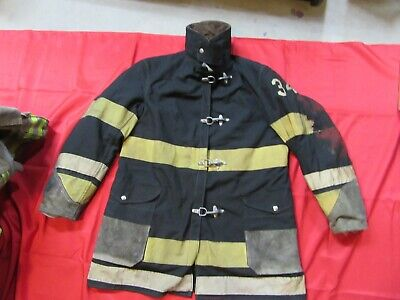 Vintage Black Globe Size 42 Firefighter Jacket Turn Out Wliner U.s.a. Haloween