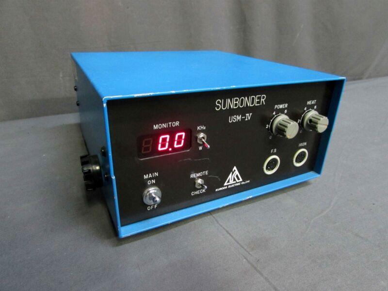 TESTED Kuroda Electric USM-IV Sunbonder Ultrasonic Soldering Unit