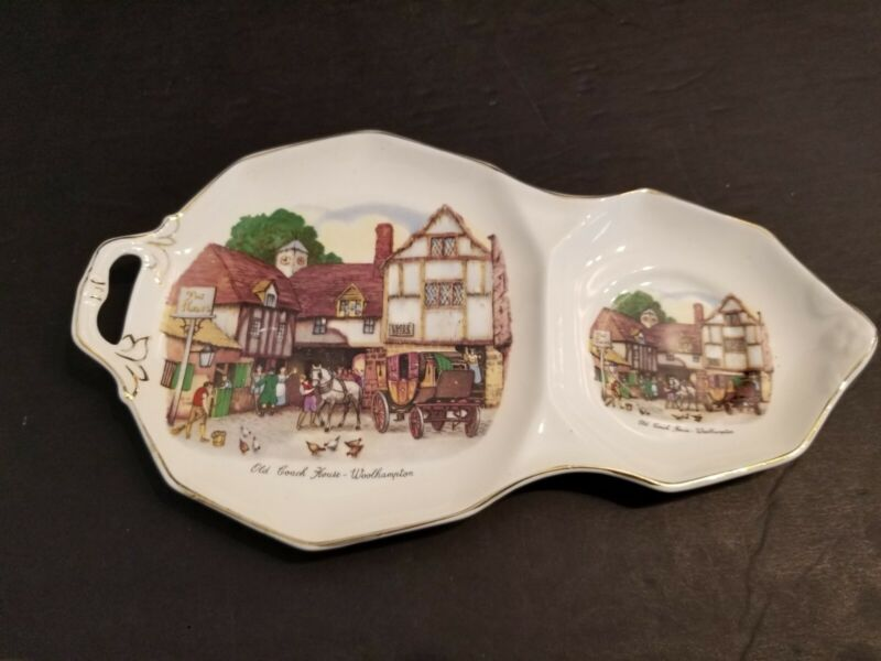 Royal Tudor Ware Old Coach House Woolhampton, Barker Bros. Snack Plate.