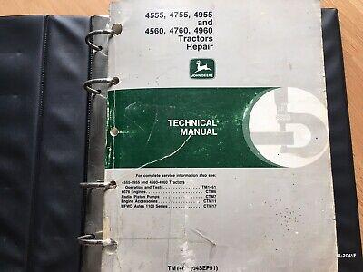 John Deere 4555 4755 4955 4560 4760 4960 Tractor Technical Repair Manual Tm1460