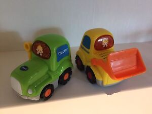 VTech talking and singing tractor and loader small vehicles