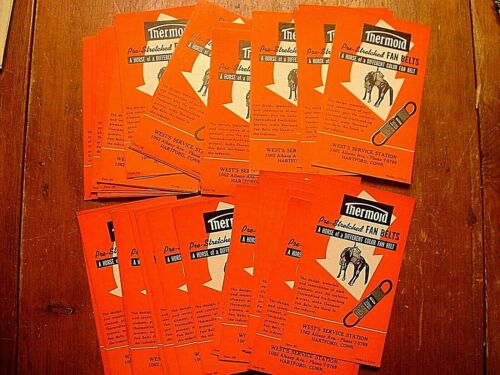 Lot of 45 Thermold Fan Belt Hartford Ct Advertising Ink Blotters