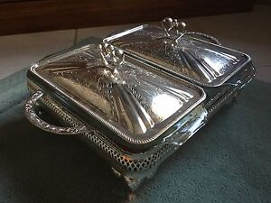 NEW Two Glass Loaf Dishes with Silver Serving Tray Londonderry Penrith Area Preview