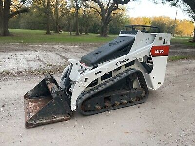 2017 Bobcat Mt85 Mini Skid Steer Walk Behind Ride On Kubota Diesel Only 200 Hr
