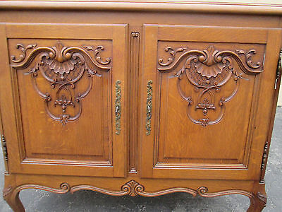 00001 French Country Oak 2 door cabinet