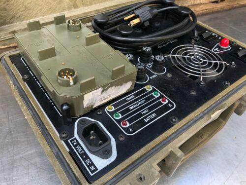 Bren-Tronics BTC-UNI05 PP-8444/U Battery Charger W/ J-6358A/P BTA-70834 Adapter