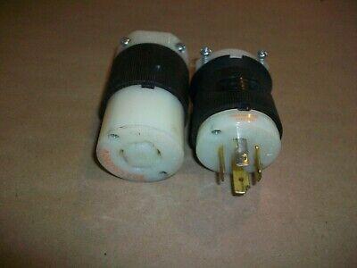 Hubbell 20amp 125 250vac Plug Socket Hbl2411  New