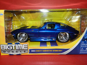 Jada 1/24 1963 Chevy Corvette Metallic Blue Big Time Muscle MiB