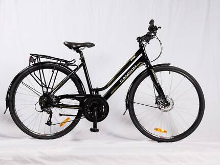 SAMSON CYCLES 27 SPEED STEP THROUGH HYDRAULIC DISC BRAKE HYBRID