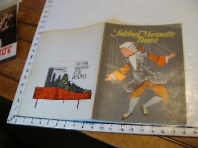 Vintage MARIONETTE Paper: SALZBURG MARIONETTE THEATRE booklet, 17pgs