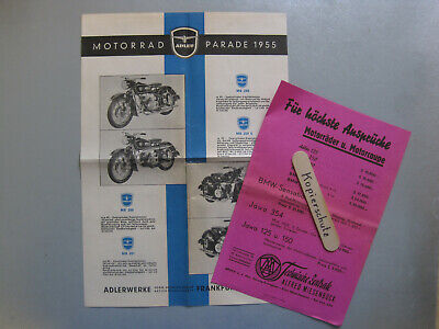 L815: Steyr Daimler Puch Adler Motorrad Prospekt mit Preisliste MB 250 usw.