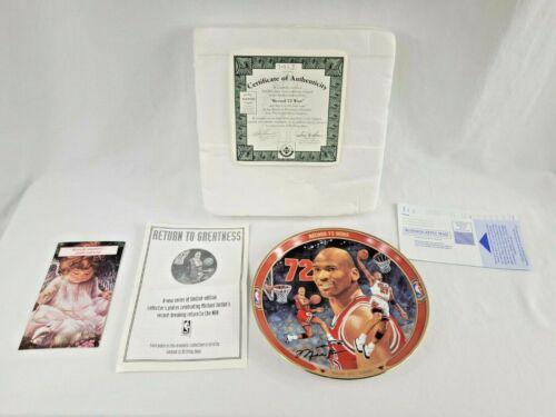"Michael Jordan ""RECORD 72 WINS"" BULLS Plate Bradford Exchange UpperDeck W/ COA"