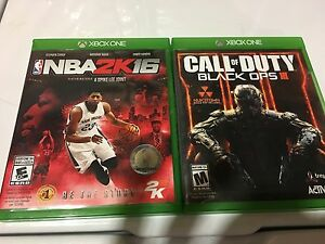 Xbox box one NBA 2k16 and black ops 3 both for 40$