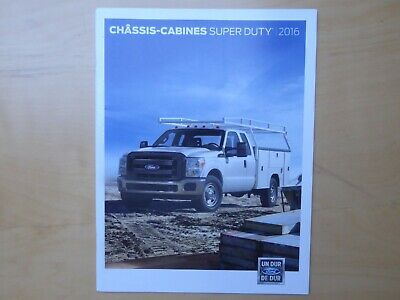 FORD Châssis-Cabines Super Duty brochure, Canadian market, in French, MY 2016