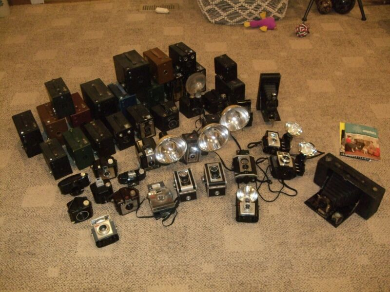 Personal Collection of Vintage Kodak Cameras...43 total