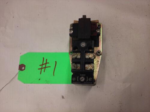 Allen Bradley 849A-Z0D24 Pneumatic Timing Delay 110/120V.  NEW OLD STOCK lot#1