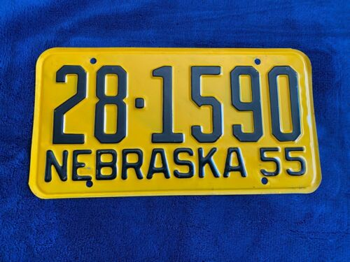 1955 Nebraska License Plate 28 1590