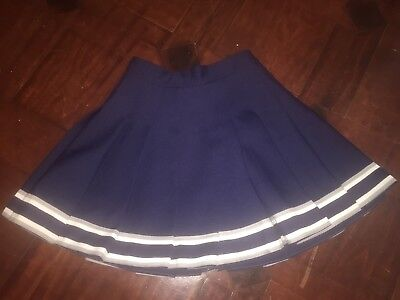 CHEERLEADER SUPPLY Navy, Gray, White Cheerleader UNIFORM SKIRT GIRLS 25