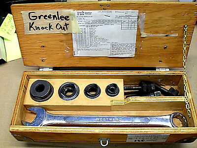 Greenlee Slug Buster Knockout Punch Set 12 Through 1 14