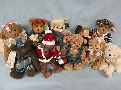 10 Bears - 6 Ganz Cottage Collectibles, 4 Bearington Collection - Estate Lot 82