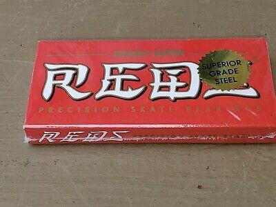 New & Sealed!  Set of 8 Authentic BONES SUPER REDS Skateboard Bearings - NIB!