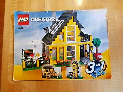 Lego CREATOR Beach House Apartment Complex Cafe (4996) 100%Complete All 3Manuals