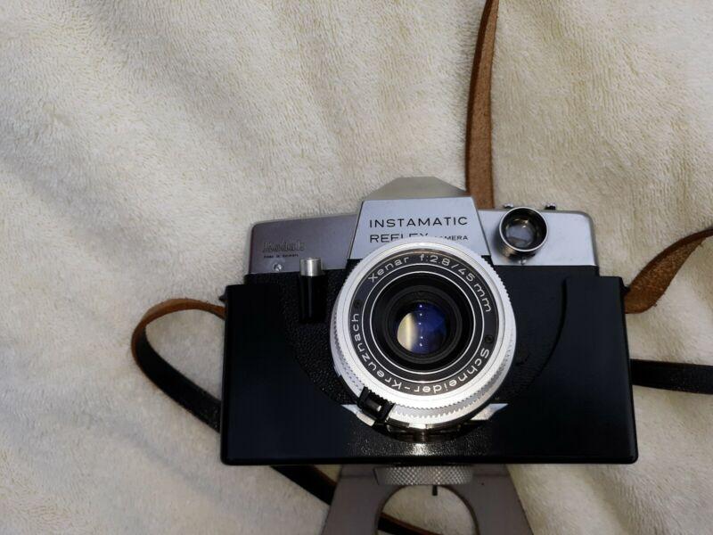 Camera, Vintage Kodak Instamatic Reflex Camera with Case Made in Germany