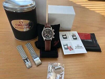OMEGA DYNAMIC CHRONOGRAPH REF. 5240.50.00 5240.50 Men's Watch box bin and extras