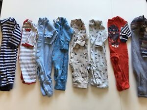 Baby boy 6-12 month sleepers