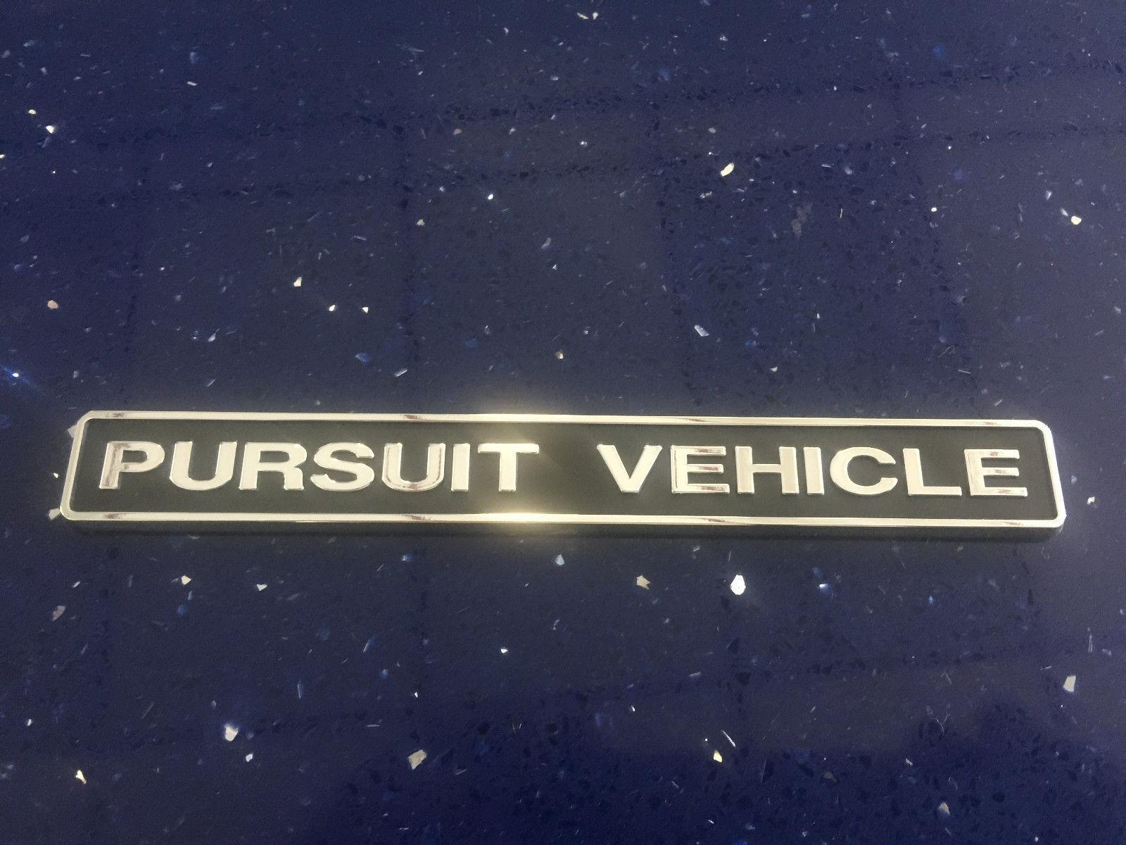 Tvr For Sale Usa >> Police Interceptor Pursuit Vehicle Emblem Hard Plastic New ...