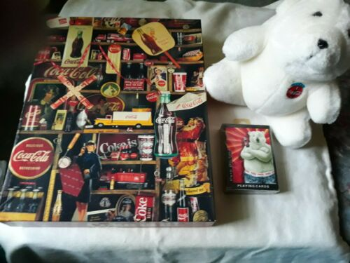 Coca Cola jigsaw puzzle cards plush toy