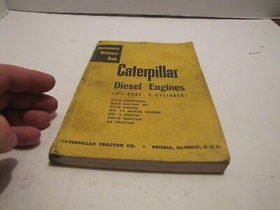 Caterpillar Cat Diesel Engines 4 12 Bore 6 Cylinders Servicemen Form 30238-1