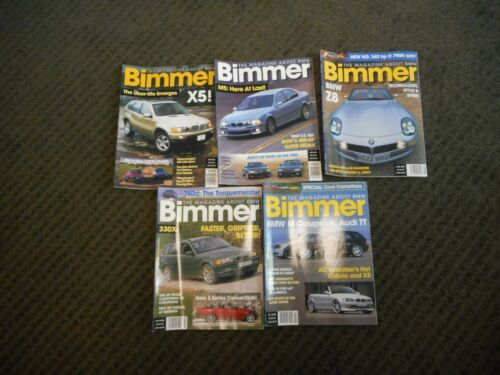 2000 BIMMER BMW Magazine Lot of 5 M5 X5 Z8 M3 M-Coupe