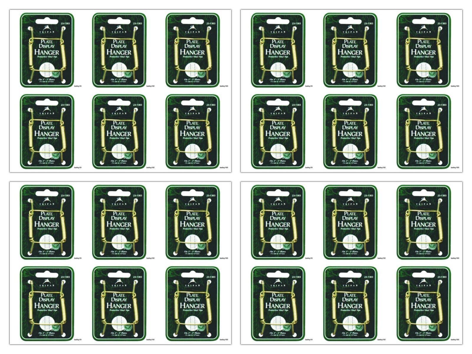 "24 Plate Hanger 3""- 5"" BRASS Display Easel Tripar 23-1303 LOT of 24 DELUXE"