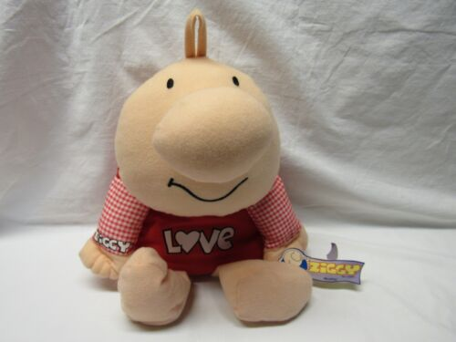 "ZIGGY HANG TAG BEANBAG DOLL ""LOVE""  RED 1998 KELLYTOY 16"""