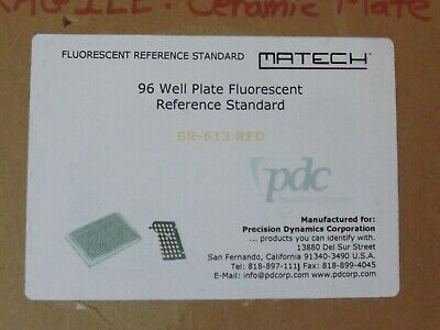 Pdc Matech 96 Well Plate Fluorescent Reference Standard Br-613 Red
