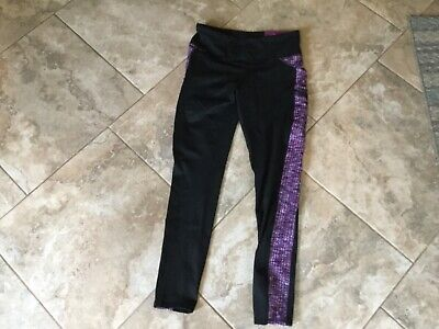 Z BY ZOBHA YOGA PINK/BLACK JAQUARD OUTSIDER ACTIVE LEGGING SZ LG NEW WITH TAGS!