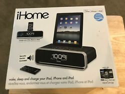 iHome iD91 Clock Radio Speaker Dock with Dual Alarm FM Clock Radio (No Remote)