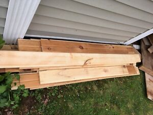 """Used 5"""" tongue and groove pine"""