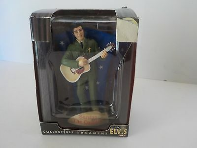TREVCO ELVIS PRESLEY CHRISTMAS ORNAMENT SERVING THE COUNTRY FIGURE - NEW