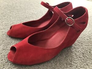 Mollini wedge heels and Ferragamo shoe bags - excellent condition