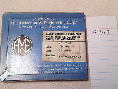 5 New .9100 Allied Spade Drill Insert Bits Amec. 131t-0030-s Usa Made F867
