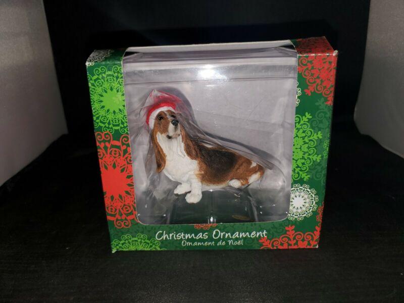 Sandicast Bassett Hound Christmas Ornament
