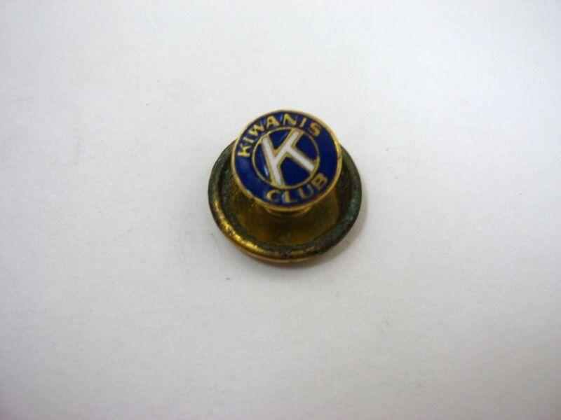 Vintage Collectible Pin: Kiwanis Club Blue White Enamel Screwback