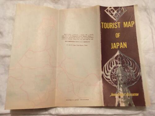 Japan Tourist Association Tourist Map of Japan Vintage 1959