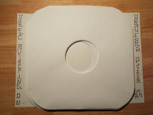 "50 WHITE PAPER INNER 12"" LP RECORD SLEEVES ROUNDED CORNER #20 PAPER ACID FREE"