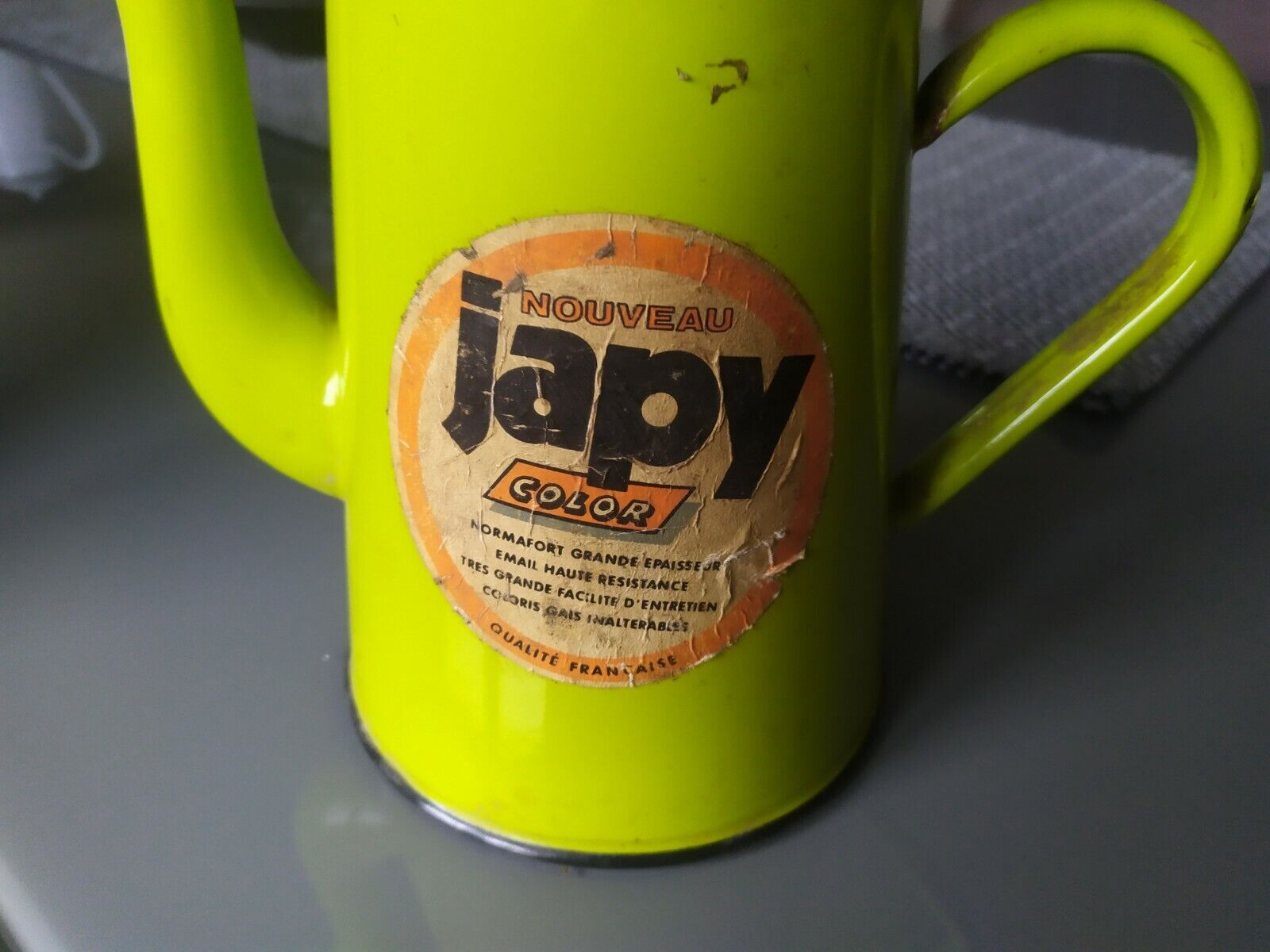 Cafetiere emaillee ancienne japy