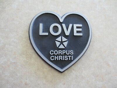 Love Chrysler dealership car badge - Corpus Christi Texas USA