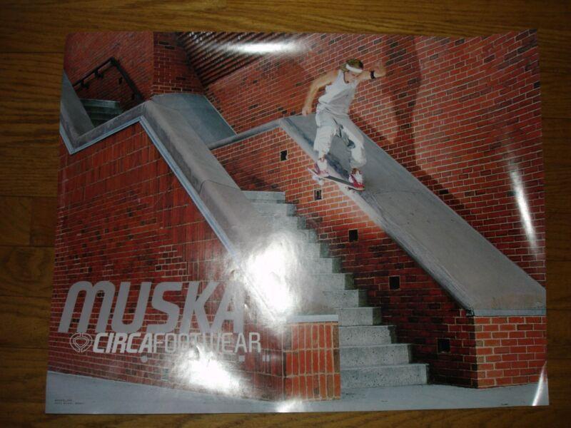 Vintage Chad Muska 2 - Sided Skateboard Noseslide Photo & Boom Box Circa Shoes