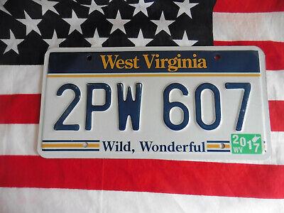 US WEST VIRGINIA 2PW 607 WILD AUTO CAR KENNZEICHEN NUMMERNSCHILD PLATE TAG USA I